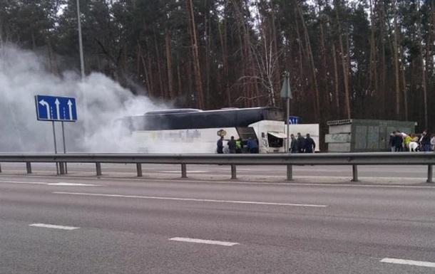 Под Киевом горел автобус с пассажирами