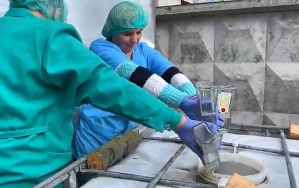 В Украине провели крупнейшую утилизацию водки