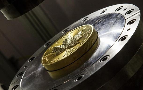 В Канаде выпустили 10-килограммовую золотую монету