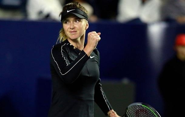 Свитолина вышла в первый финал в сезоне