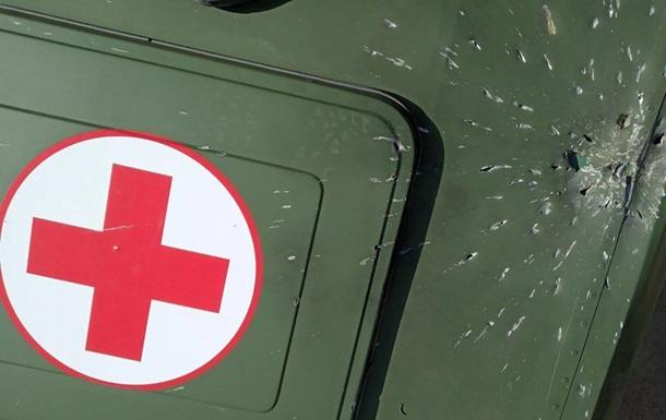 На Донбассе дроны сепаратистов обстреляли санитарный автомобиль