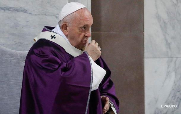 Папа Римський підтримав хворих на коронавірус
