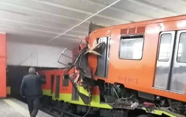В Мексике столкнулись два поезда метро: один человек погиб, 41 ранен