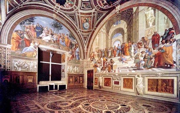 Украинки нацарапали свои имена на фреске Рафаэля в Ватикане