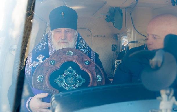 Минск для  защиты  от COVID-19 окропили из вертолета святой водой