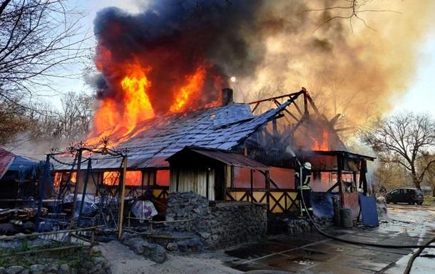 В киевском Гидропарке горело кафе