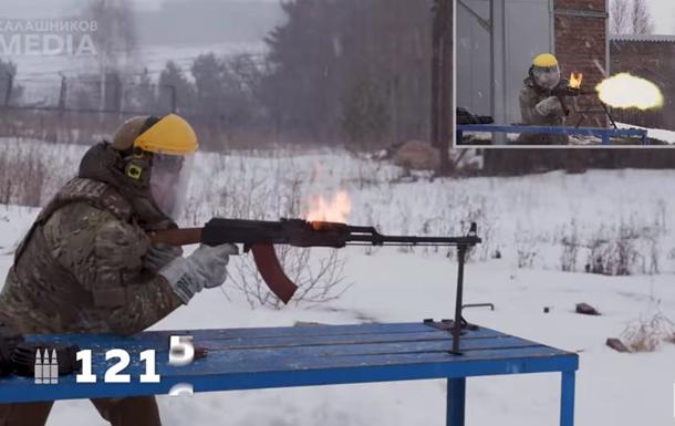 На видео показали, как загорелся РП Калашникова