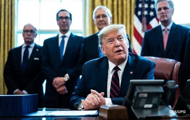 Трамп одобрил пакет помощи США в размере $2 трлн