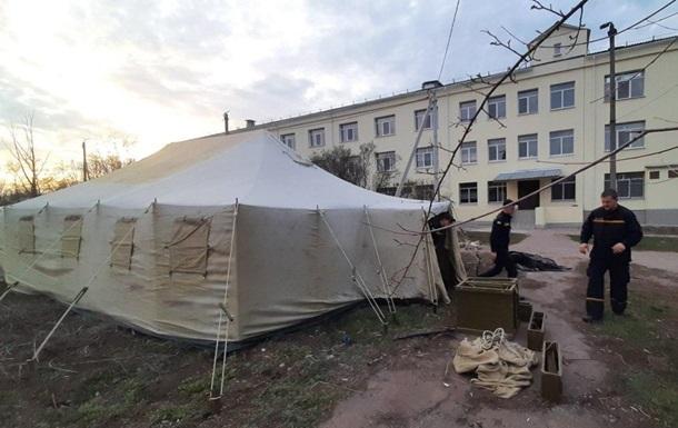На Донбасі з явилися пункти сортування для хворих на COVID-19