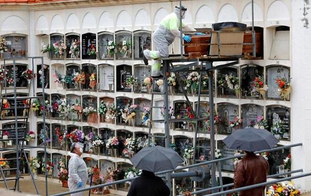 В Іспанії новий максимум смертності від COVID-19