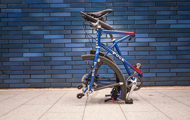 Изобретен велосипед со складными колесами