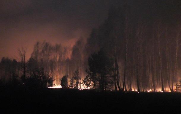 Лесной пожар в Черниговской области тушат при помощи самолетов