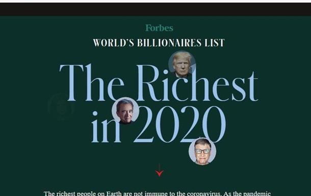 Forbes-2020: кто из украинских олигархов составил компанию Гейтсу и Цукербергу