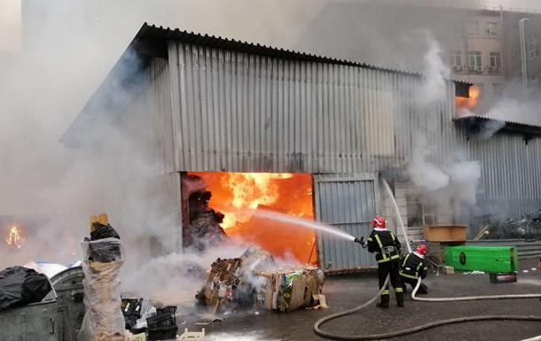 Пожар в Киеве сегодня