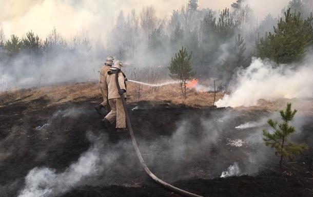 В Чернобыльской зоне продолжается ликвидация пожаров