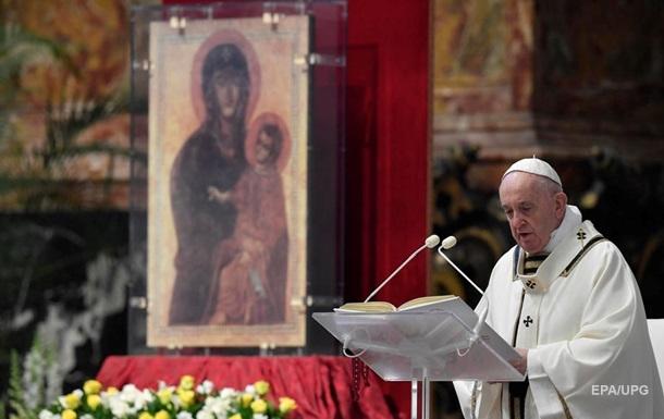 Папа Римский на Пасху призвал ослабить санкции