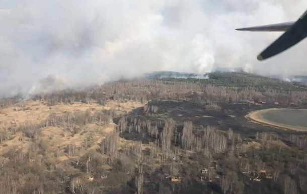 В зоне отчуждения ЧАЭС назвали очаги пожаров