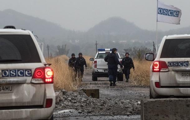 На Донбассе миссия ОБСЕ попала под обстрел
