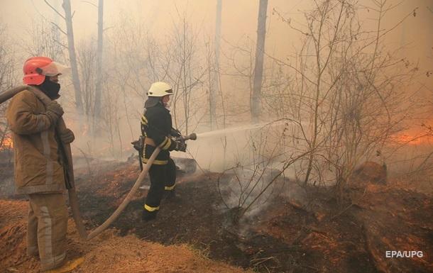 Спутник зафиксировал масштабные пожары на Житомирщине