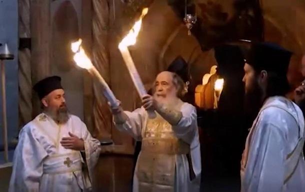 Священный огонь сошел в Иерусалим