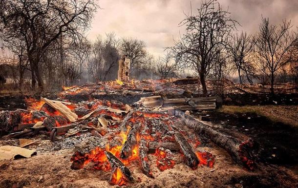 На Житомирщине лесной пожар уничтожил 40 домов