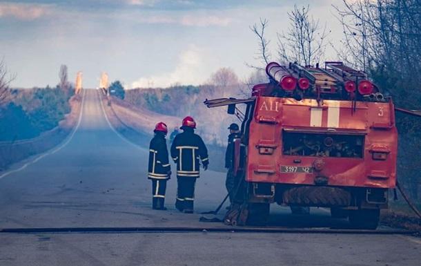 У зоні відчуження продовжується ліквідація пожеж