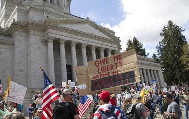 В столице США прошел массовый митинг против карантина