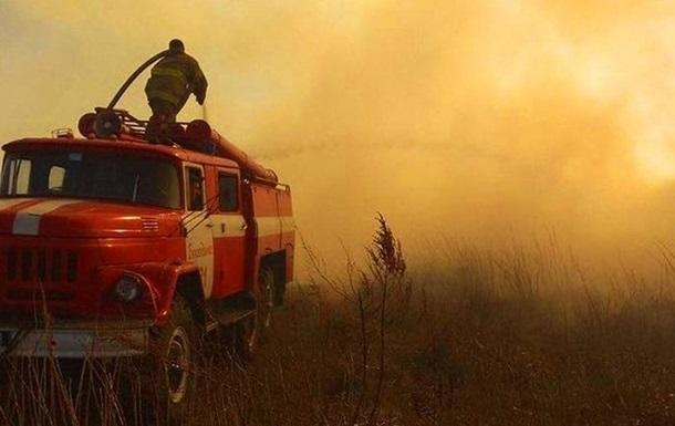 В Житомирской области вновь вспыхнул лесной пожар