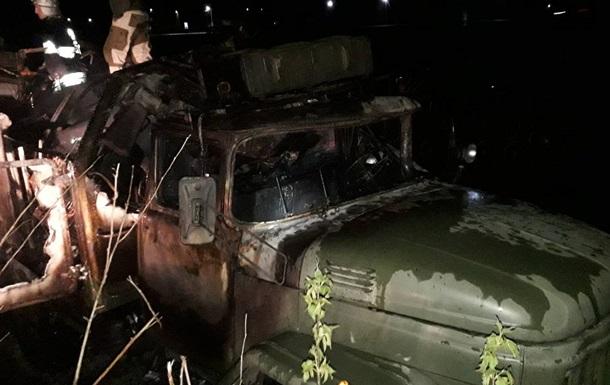 Под Львовом сгорело авто Минобороны, есть жертвы