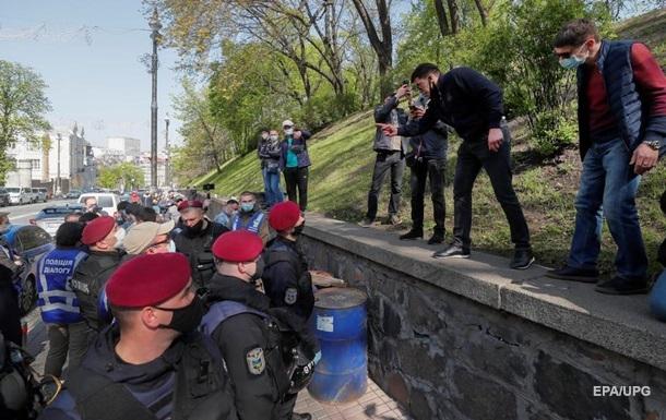Поліція посилила заходи безпеки в центрі Києва