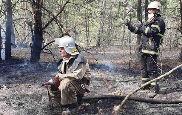 Пожары на Житомирщине и в зоне ЧАЭС локализованы