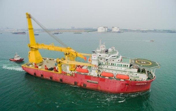 Российский корабль прибыл на Балтику для достройки СП-2