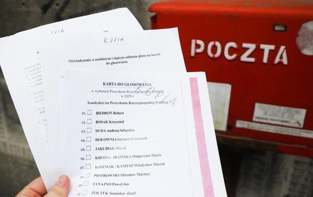 Вибори президента Польщі поштою на межі зриву