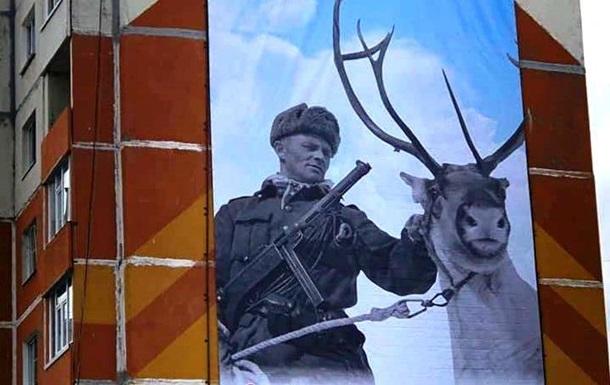 Баннер с финским солдатом повесили ко Дню Победы в России: фото