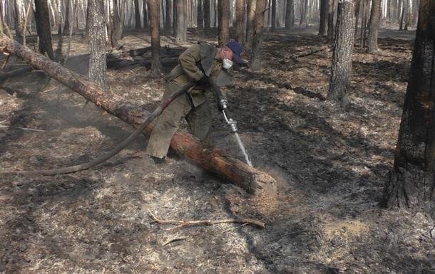 На Житомирщині загасили пожежу в заповіднику, у зоні ЧАЕС тліють торфовища