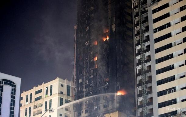 Пожар небоскреба в ОАЭ. Фоторепортаж