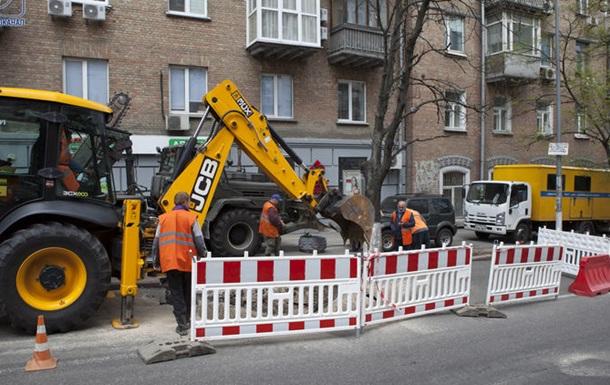 У центрі Києва сталася велика аварія на водопроводі