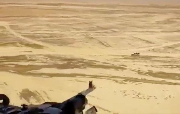 Военные показали расстрел машины ИГИЛ из вертолета