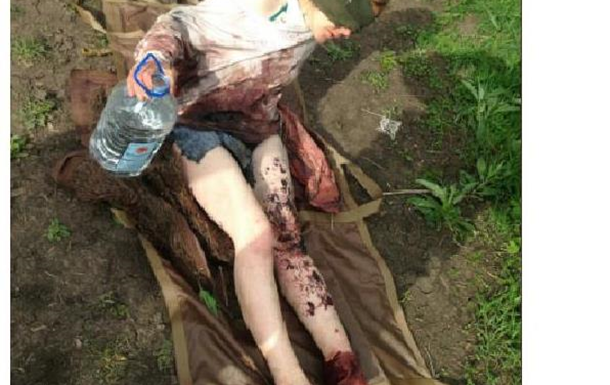 Российские мины не помешали униженной девушке, найти спасение на Украине.