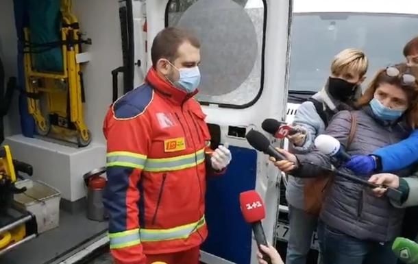 В Харькове протестуют медики скорой помощи