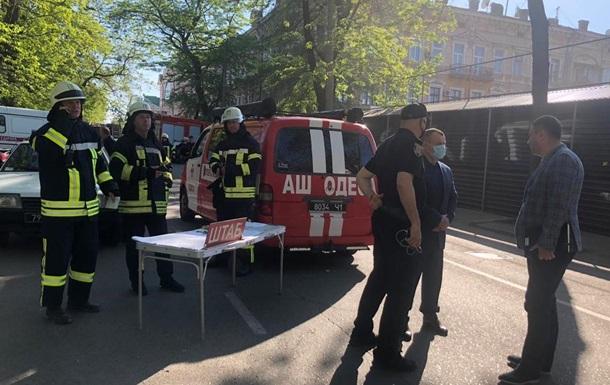 Во время обвала в Одессе никто не пострадал − МВД