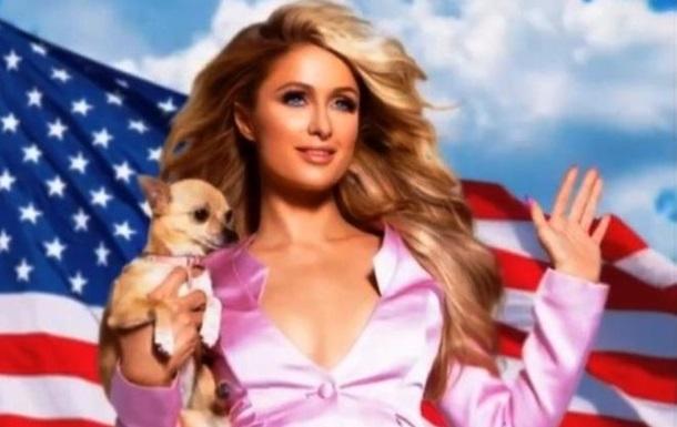 Пэрис Хилтон покрасила своих собак в цвета флага США: фото, видео