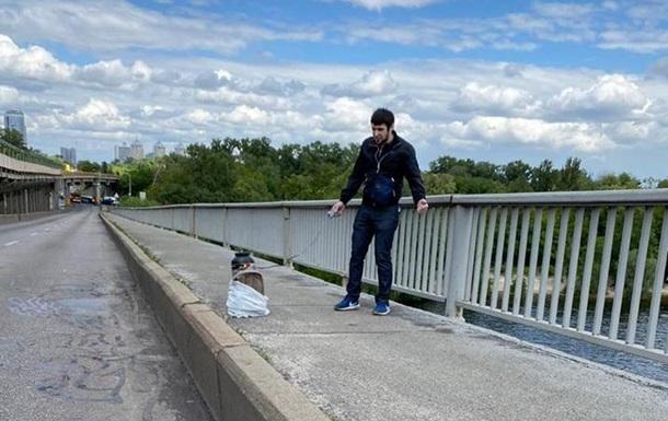 Задержать минера моста в Киеве помог служебный пес