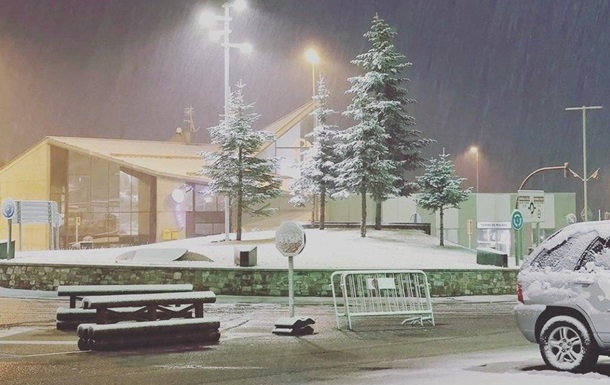В Европе внезапно выпало много снега