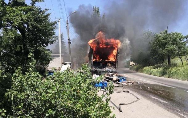 В Кривом Роге сгорел почтовый фургон с посылками