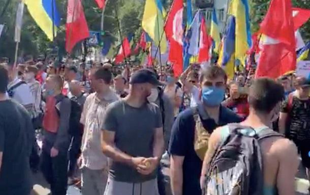 В правительственном квартале масштабный протест