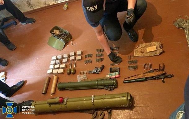 В Кривом Роге обнаружен арсенал оружия из ООС