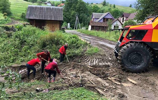 ГСЧС оценила ущерб от непогоды на Закарпатье