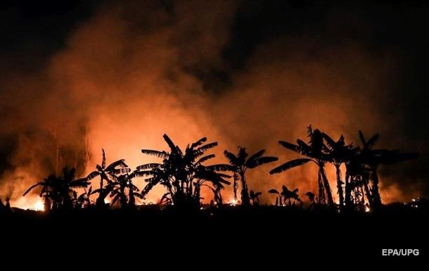 В Амазонии зафиксировали рекордные пожары
