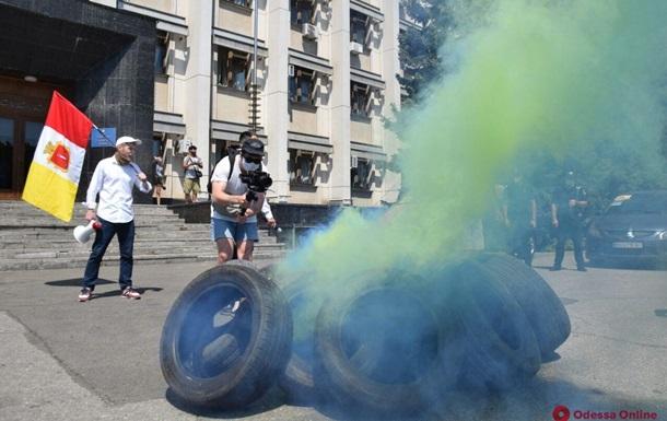 В Одессе прошел антикарантинный протест